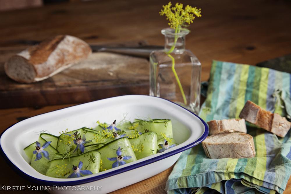 Cucumber & Borage Flower Salad-2-4-2